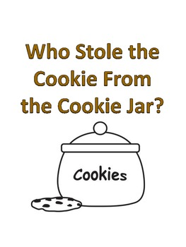 Who Stole the Cookie - Printable Book
