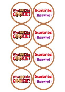 Who Stole/Took the Cookie (from the cookie jar) Game