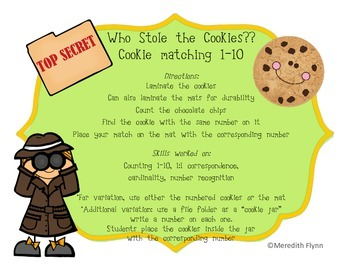 Who Stole the Cookies? - Differentiated Math Games focused on Basic Skills