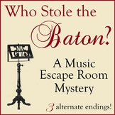 Who Stole the Baton? A Music Escape Room Mystery (Music Ca