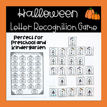 Preschool or Kindergarten Halloween Alphabet Game