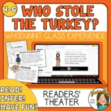 Who Stole the Turkey? Thanksgiving Activities-  MYSTERY Re