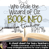 Who Stole the Wizard of Oz Guide: Summaries,Vocab,& Strate