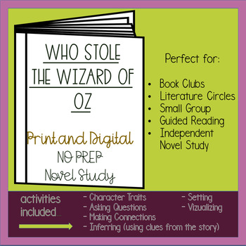Wizard of oz novel study teaching resources teachers pay teachers who stole the wizard of oz novel study fandeluxe Choice Image