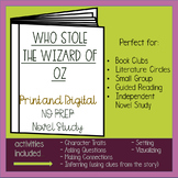 Who Stole the Wizard of Oz Novel Study - Distance Learning