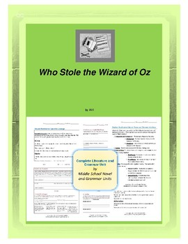 Who Stole the Wizard of Oz Novel Unit