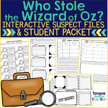 Who Stole The Wizard Of Oz By Avi Student Packet And Interactive Files