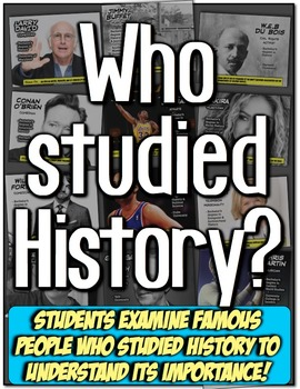 Who Studied History? Students learn who studied history in a fun way! Engaging!