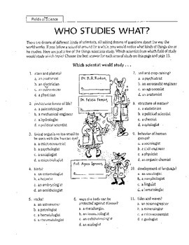 Who Studies What?
