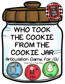 Who Took the Cookie From the Cookie Jar Articulation Game for /G/
