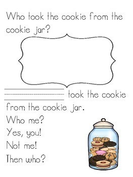Who Took the Cookie from the Cookie Jar? Class Book