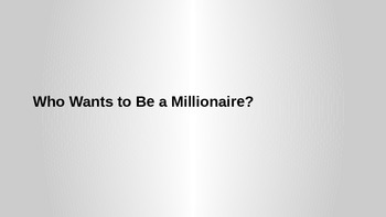 Who Want to be a Millionaire Template