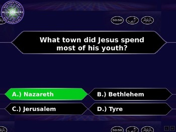 Who Wants To Be A Millionaire Bible Edition