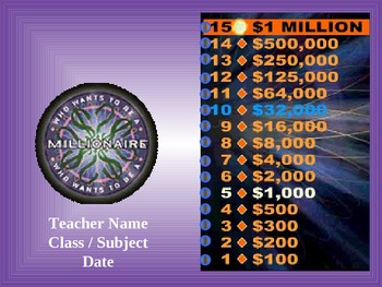 Who Wants To Be A Millionaire: Criminal Sexual Conduct