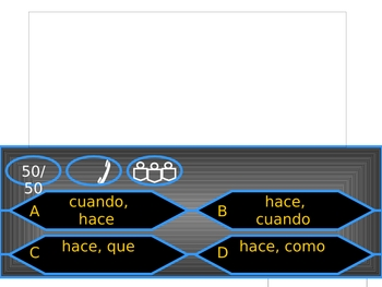 Who Wants To Be A Millionaire? review game - Spanish Level 3