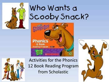 Who Wants a Scooby Snack?  Activities for the Phonics Book Set