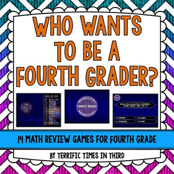 Who Wants to Be a Fourth Grader? 14 Fun Math Review PowerPoints