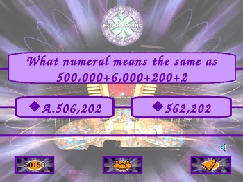 Who Wants to Be a Millionaire? End of Year Math Review