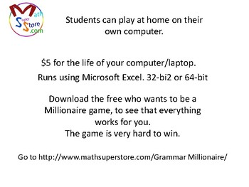 Who Wants to ba a Millionaire Game (Grammar)