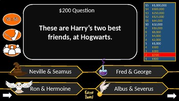 Who Wants to be a Harry Potter Millionaire: Harry Potter & the Sorcerer's Stone.