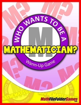 Who Wants to be a Mathematician? {Great Warm-Up Math Game}