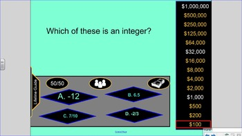 Who Wants to be a Millionaire 6th Grade Math Review VA SOL 6.3, 6.10, 6.12, 6.11