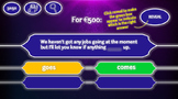 Who Wants to be a Millionaire C1 ESL TEFL Customisable Int