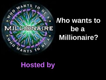 Who Wants to be a Millionaire? Earth Science