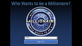 Who Wants to be a Millionaire! FCAT Science Vocabulary Review for 8th Grade
