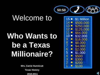 Who Wants to be a Millionaire? - Manifest Destiny Review Game