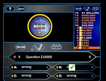 Who Wants to be a Millionaire - like Game for test prep and review