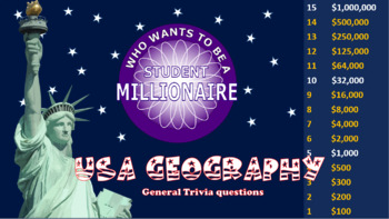 Who Wants to be a Student Millionaire 3 Pack Bundle - U.S. Geography