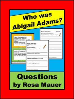 Who Was Abigail Adams? Book Unit