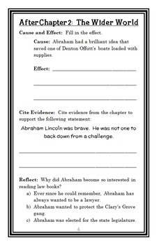 Who Was Abraham Lincoln? (Janet B. Pascal) Book Study / Comprehension (32 pages)