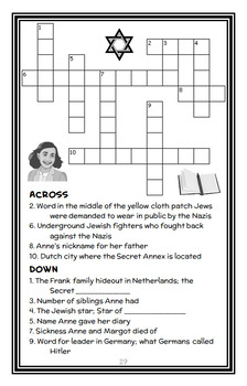 Who Was Anne Frank? (Ann Abramson) Book Study / Reading Comprehension