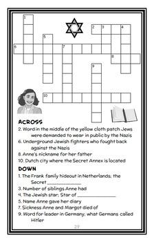 Who Was Anne Frank? (Ann Abramson) Book Study ...