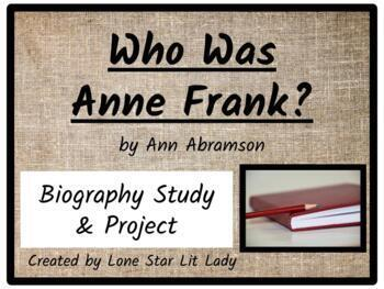 Who Was Anne Frank? (Biography Study & Project)