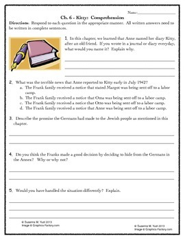 Who Was Anne Frank?  by Ann Abramson Literature Unit