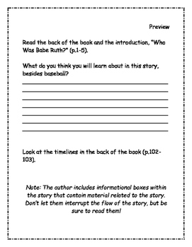 Who Was Babe Ruth? Comprehension Packet