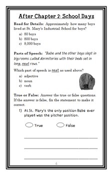 Who Was Babe Ruth? (Joan Holub) Book Study / Comprehension  (32 pages)