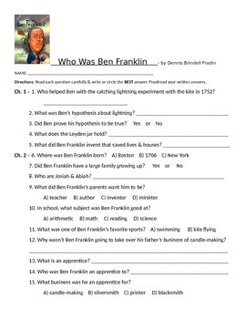 Who Was Ben Franklin Chapters 1 - 4