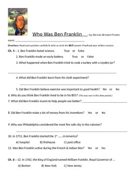 Who Was Ben Franklin Chapters 5 - 8