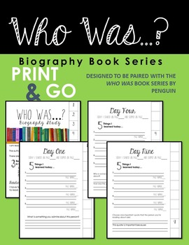 Who Was Biography Book Series PRINT & GO Flipbook