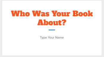Who Was Biography Book Template
