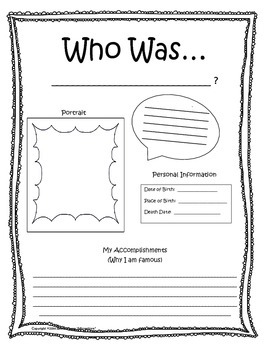 Who Was? Biography Series  - Activity Pack