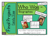 Who Was Biography Series Final Projects - FAMILY TREE Fill-in Graphic Organizer