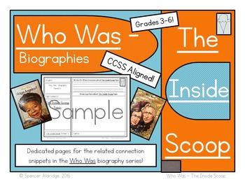 Who Was Biography Series - INSIDE SCOOP Fill-in Comprehens