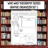 Who Was Biography Series Research Graphic Organizer Set 1