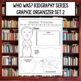 Who Was Biography Series Research Graphic Organizer Set 2