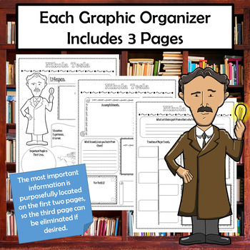 Who Was Biography Series Research Graphic Organizer Set 4